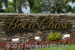 sign at entrance to Boca Chase                                         in Boca Raton