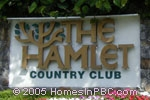 sign at entrance to The Hamlet in Delray Beach