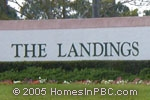 sign at entrance to The Landings in Wellington