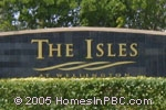 sign at entrance to The Isles in Wellington