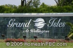 sign at entrance to Grand Isles at Wellington                          in Wellington
