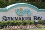sign in front of Spinnaker Bay in Lake Worth