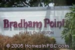 sign in front of Bradham Point in Lake Worth