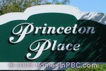 sign in front of Princeton Place in Boynton Beach