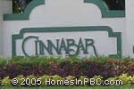 sign in front of Cinnabar in Boynton Beach