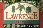 sign in front of Lawrence Woods in Lake Worth