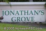 sign in front of Jonathans Grove in Boynton Beach