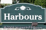 sign in front of Harbours in Boynton Beach