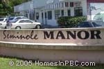 sign in front of Seminole Manor in Lake Worth