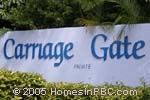 sign in front of Carriage Gate in Boynton Beach