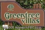 sign in front of Greentree Villas in Boynton Beach