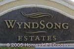 sign in front of WyndSong Estates in Boynton Beach