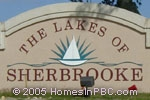 sign in front of Lakes of Sherbrooke in Lake Worth