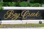 sign in front of Bay Creek in Boca Raton