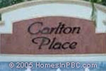 sign in front of Carlton Place in Boca Raton
