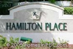 sign in front of Hamilton Place in Boca Raton