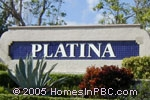 sign in front of Platina in Boynton Beach