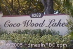 sign in front of Coco Wood Lakes in Delray Beach