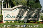sign in front of Boca Isles North in Boca Raton