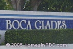 sign in front of Boca Glades in Boca Raton