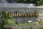sign in front of Timbercreek in Boca Raton