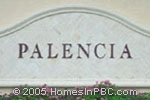 sign in front of Palencia in Delray Beach