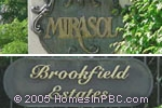sign in front of Mirasol / Brookfield Estates in Delray Beach
