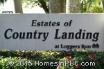 sign in front of The Estates of Country Landing in Boca Raton
