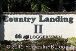 sign in front of Country Landing II in Boca Raton