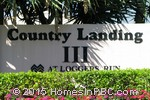 sign in front of Country Landing III in Boca Raton