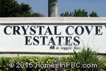 sign in front of Crystal Cove Estates in Boca Raton