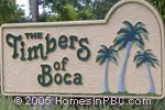 sign in front of The Timbers in Boca Raton