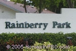 sign in front of Rainberry Park in Boca Raton