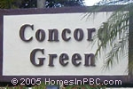 sign in front of Concord Green in Boca Raton