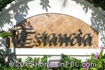 sign in front of Estancia in Boca Raton