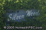 sign in front of Silver Wood in Boca Raton