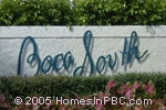 sign in front of Boca South in Boca Raton