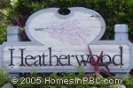 sign in front of Heatherwood in Boca Raton