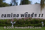 sign in front of Camino Woods II in Boca Raton