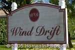 sign in front of Wind Drift in Boca Raton