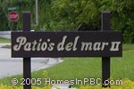 sign in front of Patios Del Mar II in Boca Raton