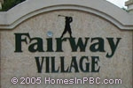 sign in front of Fairway Village in Boca Raton