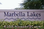 sign in front of Marbella Lakes in Boca Raton