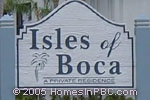 sign in front of Isles of Boca in Boca Raton