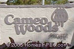 sign in front of Cameo Woods in Boca Raton
