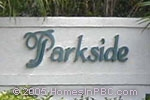 sign in front of Parkside in Boca Raton