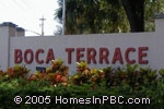 sign in front of Boca Terrace in Boca Raton