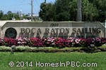 sign in front of Boca Raton Sailing and Racquet Club in Boca Raton