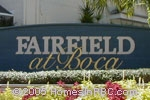 sign in front of Fairfield at Boca in Boca Raton