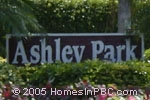 sign in front of Ashley Park in Boca Raton